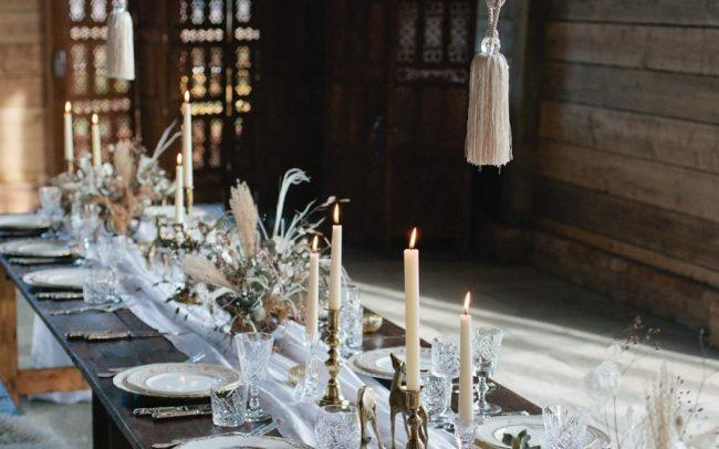Wedding dinner by Hire Love